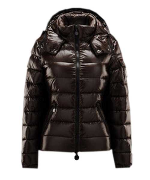 Moncler Bady Winter Women Down Jackets Zip Hooded Brown