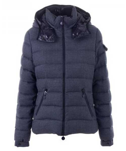 Moncler Bady Winter Women Down Jackets Zip Hooded Dark Gray