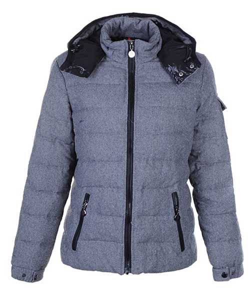 Moncler Bady Winter Women Down Jackets Zip Hooded Light Gray