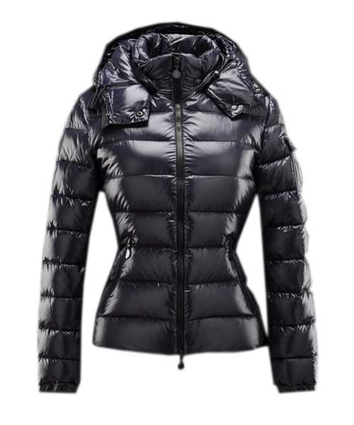 Moncler Bady Winter Women Down Jackets Zip Hooded Navy Blue
