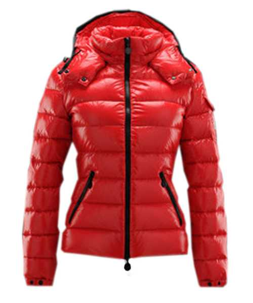 Moncler Bady Winter Women Down Jackets Zip Hooded Red