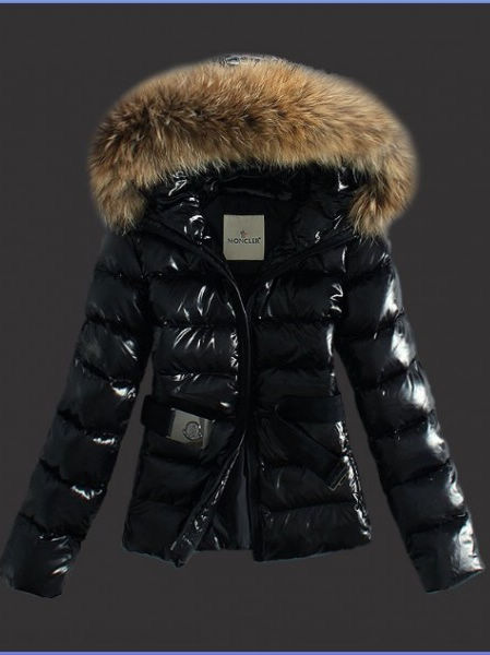 Moncler Women's jackets parka Angers black hood
