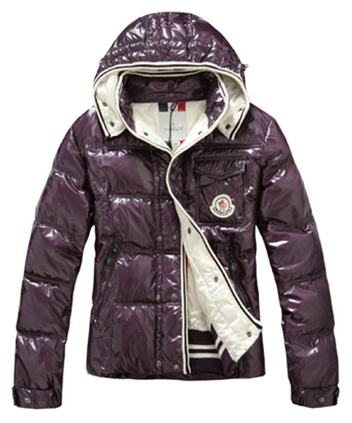 Moncler Branson Classic Men Down Jackets With Hat Purple