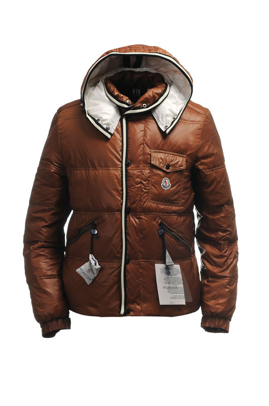 Moncler Branson Classic Mens Down Jackets Coffee Short