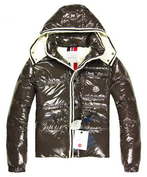 Moncler Branson Classic Mens Down Jackets With Hat Coffee