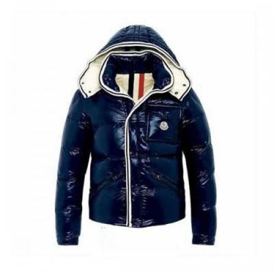 Moncler Branson Navy Dark Blue Jacket Men