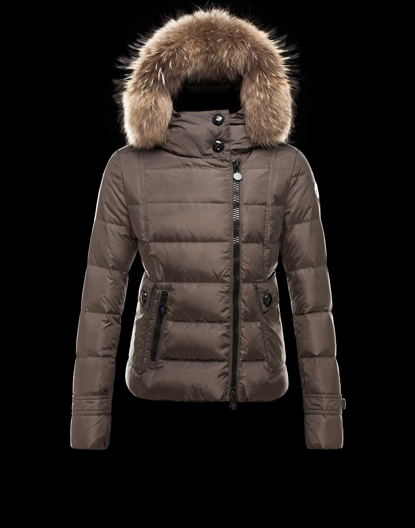 Moncler Bryone Down Jackets For Women Dark Green