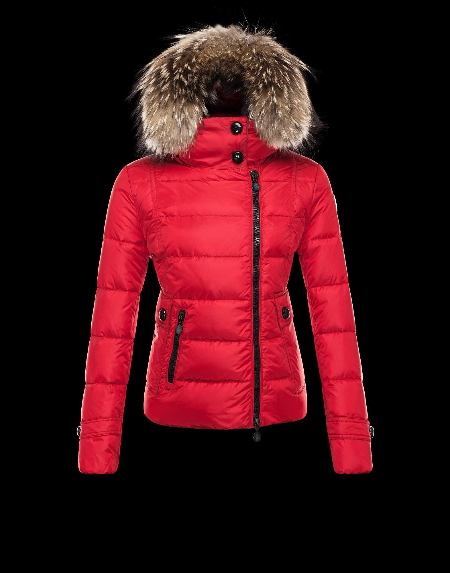 Moncler Bryone Down Jackets For Women Red