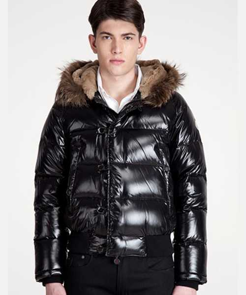 Moncler Bulgarie Mens Down Jackets Short Black