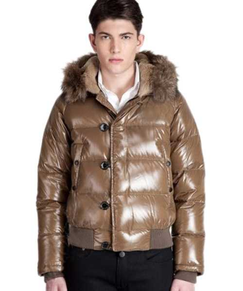Moncler Bulgarie Mens Down Jackets Short Coffee