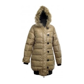 Moncler Buttons Beige Coat Women
