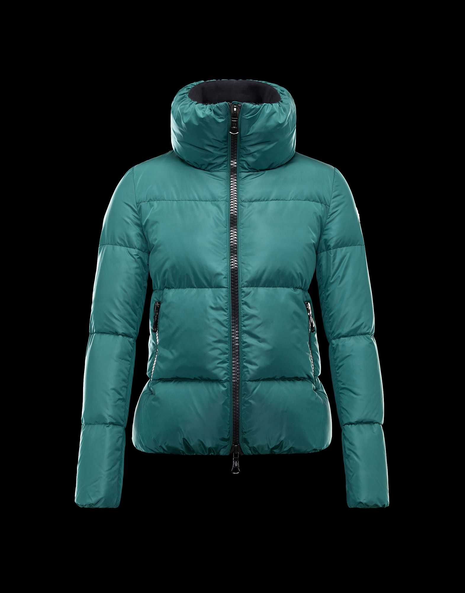 Moncler CHERY Jackets For Women Zip Collar Green