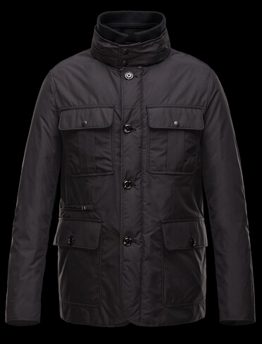 Moncler CORBIN Mens Fashion Coat Black