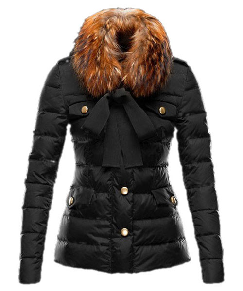 Moncler Cachalot Designer Jacket Down Women Short Black