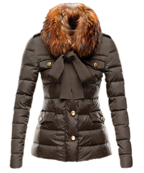 Moncler Cachalot Designer Jacket Down Women Short Coffee