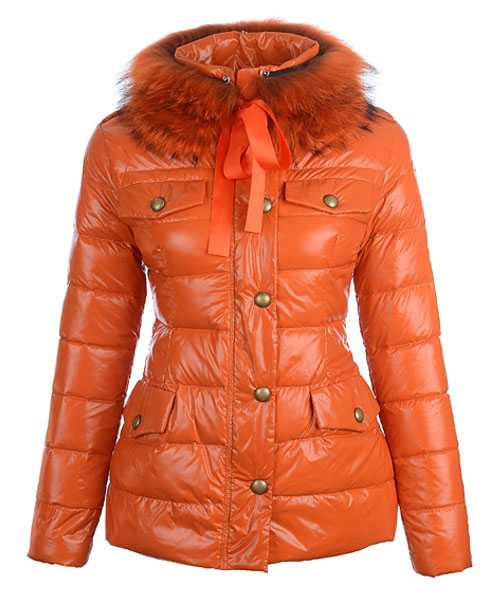 Moncler Cachalot Designer Jackets Down Women Short Orange