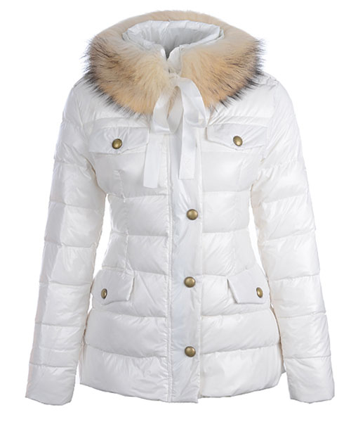 Moncler Cachalot Designer Jackets Down Women Short White