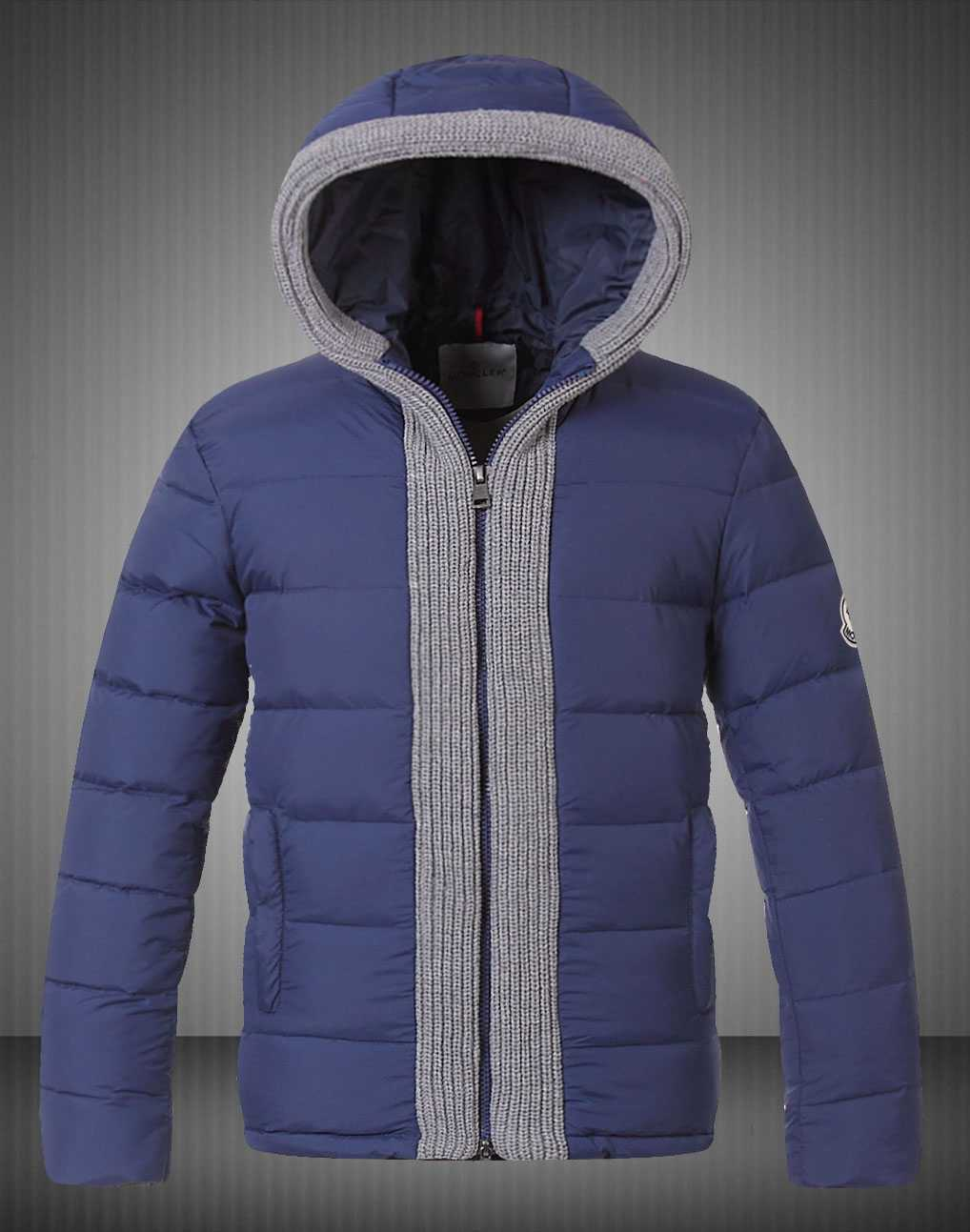 Moncler Canut Design Mens Down Jacket Blue