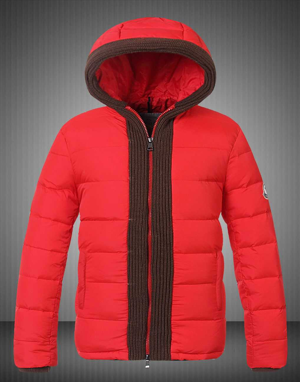 Moncler Canut Design Mens Down Jacket Light Red