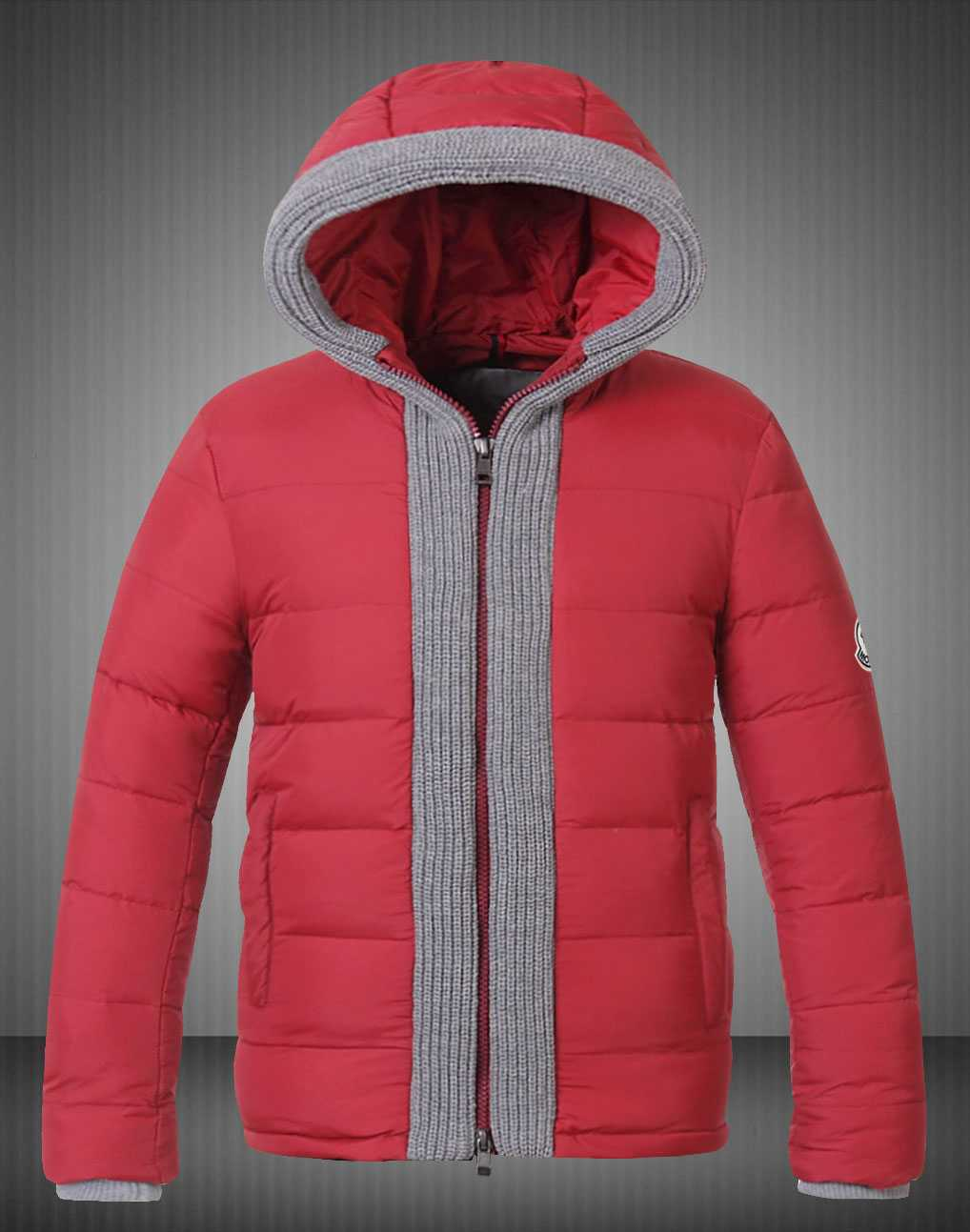 Moncler Canut Design Mens Down Jacket Red