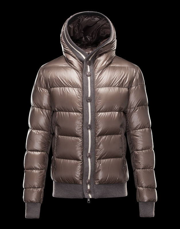 Moncler Cesar Down Mens Jackets Coffee