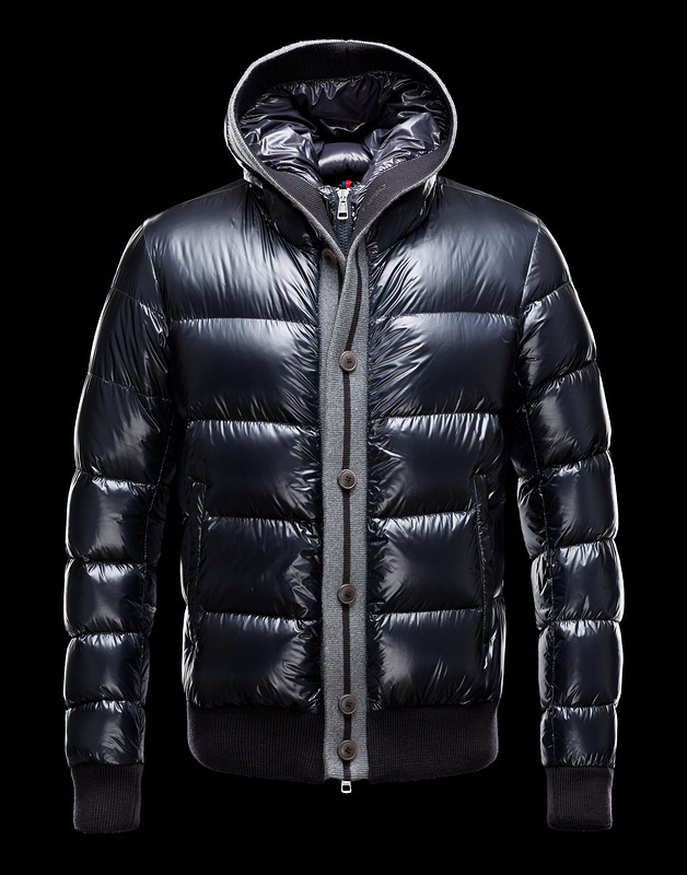 Moncler Cesar Down Mens Jackets Dark Blue