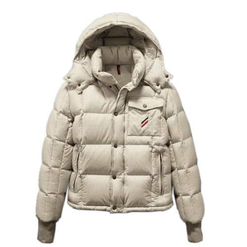 Moncler Cezanne Quilted Flannel White Jacket Men