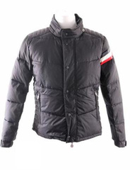 Moncler Chamonix Down Jacket Men Buttons without hat Gray
