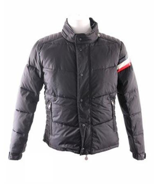 Moncler Chamonix Down Jacket Men Buttons Dark Blue Short