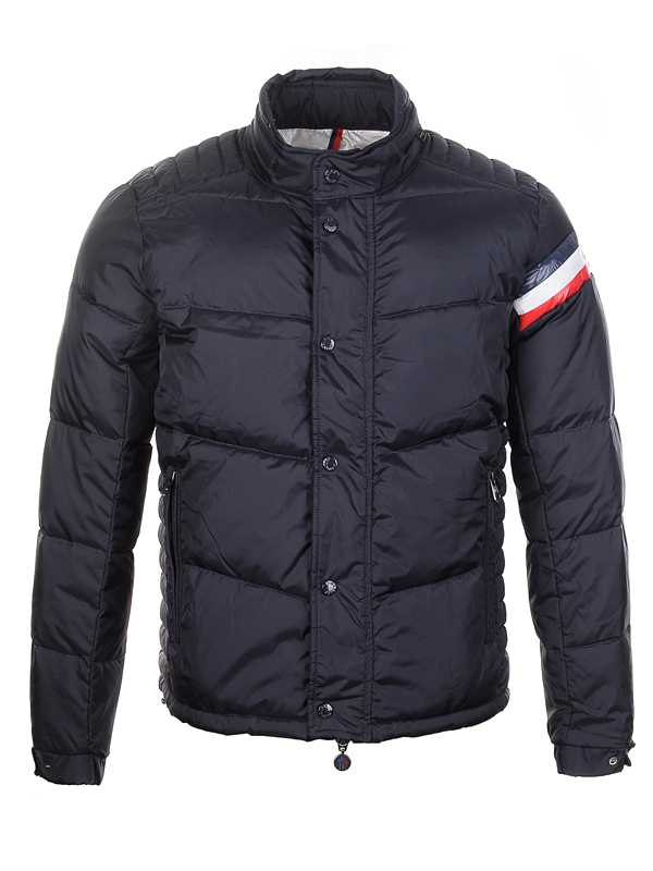 Moncler Chamonix Down Jackets Mens Buttons Black Short