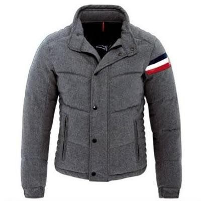 Moncler Chartreuse Down Grey Jacket Men