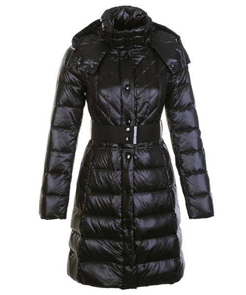 Moncler Down Coats Women Belt Decoration Black