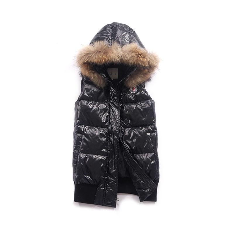 Moncler Cheval Black Vest Women