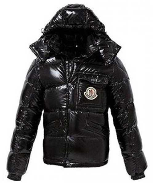 Moncler Classic Mens Down Jackets Smooth Shiny Fabric Black