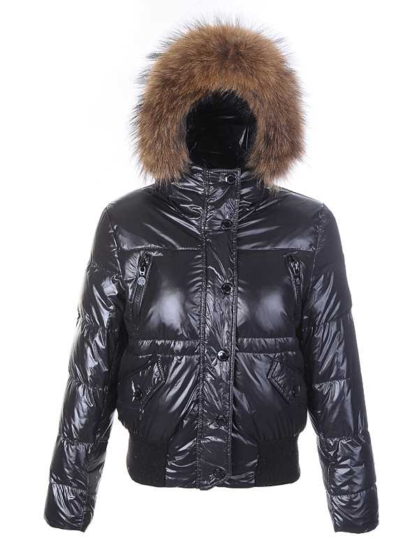 Moncler Classic Women Down Jackets Single Breasted Slim Black