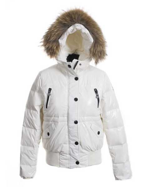 Moncler Classic Women Down Jackets Single Breasted Slim White