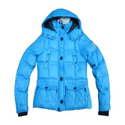 Moncler Cluny Down Emerald Blue Jacket Women