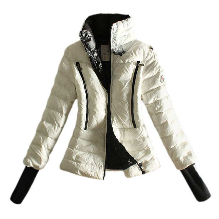 Moncler Comfortable White Coat Women