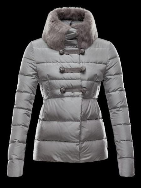 Moncler CreCerelle Womens Dark Gray Fur Collar
