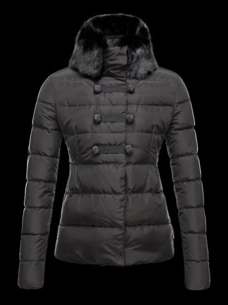 Moncler CreCerelle Womens Fur Collar Black