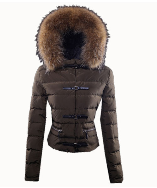 Moncler Crecerelle Down Jacket Women Coffee
