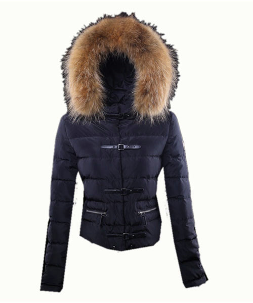 Moncler Crecerelle Down Jacket Women Dark Blue