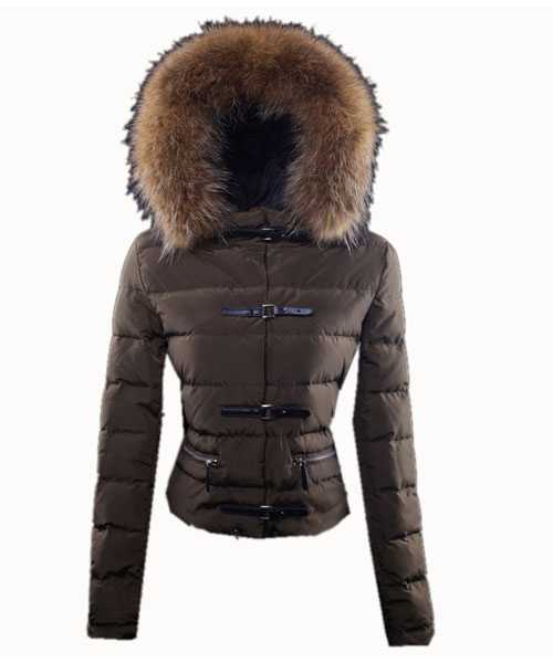 Moncler Crecerelle Down Jackets Women Coffee