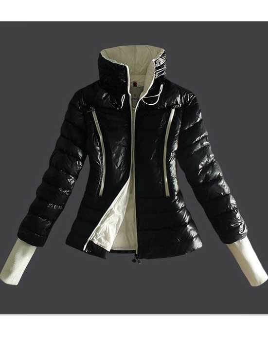 Moncler Design Down Womens Jackets Long Sleeve Zip Black