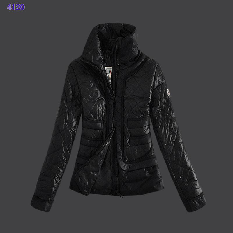 Moncler Design Women Down Jacket Stand Collar Black