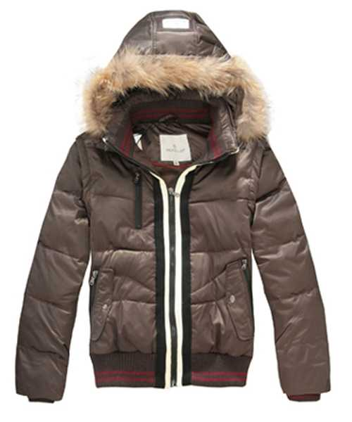 Moncler Designer Mens Down Jackets With Rabbit Hat Coffee