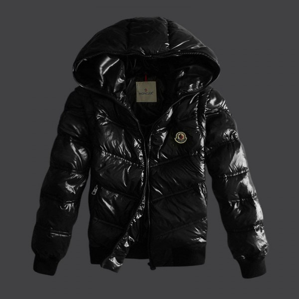 Moncler Men Down Jacket Hoodies Black