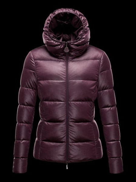 Moncler Women Jacket Hooded Jersey Purple
