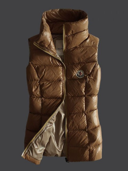 Moncler Women Down Jacket Brown