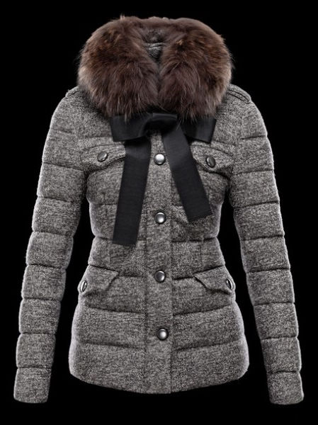Moncler Women Down Jacket Gray